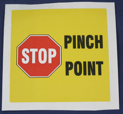 Accuform Signs Self-Adhesive Label STOP PINCH POINT