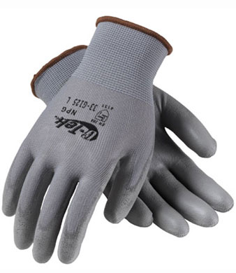 ORR Urethane Coated Gloves Knit Nylon - Gray - Large