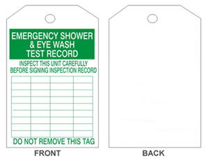 Safehouse Signs Inspection Tag for Eyewash Showers and Stations - 6.25 x 3.125