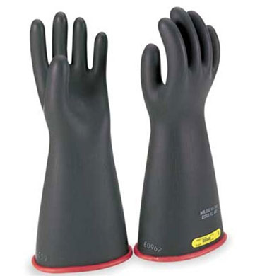 Salisbury by Honeywell High Voltage Lineman Gloves - Black and Red - 9